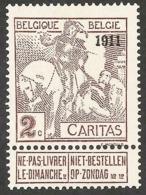 N° 94 * Ongebruikt Met Miniem Rest Van  Plakker   Côte 210€ - 1910-1911 Caritas