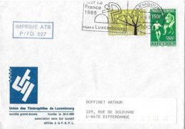 Luxembourg: Lettre Avec Oblitération Tour De France 1989 - Radsport