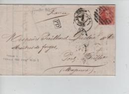 CBPN51/ TP 16 C.Boussu 1863 Obl.B (8)  21 > Port Brillet Mayenne Verso Divers Cachets Dont Ambulant & Passage - Postmark Collection