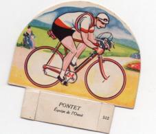 (sport Cyclisme)  Image GROSJEAN LA VACHE SERIEUSE :  PONTET (PPP21067) - Vieux Papiers
