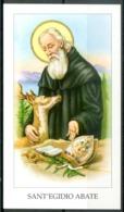 SANTINO - Sant'Egidio Martire - Santino Con Orazione. - Santini
