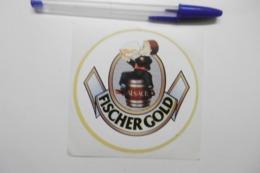 Autocollant Stickers - Bière D'Alsace FISCHER GOLD - Autocollants