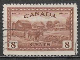 Canada 1946. Scott #268 (U) Farm Scene, Ontario - Used Stamps
