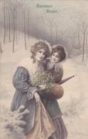 CPI Jeunes Femmes Au Gui - Bonne Année - Carte Type Viennoise MM VIENNE M. Munk 598 - Oblitération Sans Fin En 1912 - Vienne
