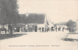 10 - CPA  VIAPRES LE GRAND La Place Route De Plancy - France
