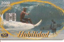 CARTE-PUCE-COSTA RICA-SC7-10/2000-- 2000 Colones-SURF HABILIDAD-TBE - Costa Rica