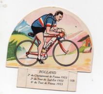 (sport Cyclisme)  Image GROSJEAN LA VACHE SERIEUSE : ROLLAND (PPP21069) - Vieux Papiers