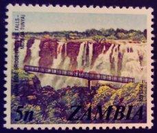 Zambie Zambia 1975 Pont Bridge Yvert 137 ** MNH - Zambia (1965-...)