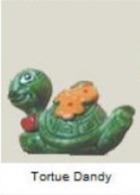 Figurine Kinder Surprise - Tortue Dandy Fleurs - Tiny Tortues Ferrero 1991 - Monoblocs