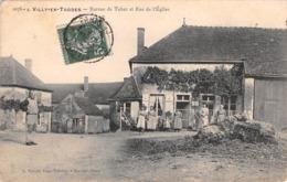 10 - CPA  VILLY EN TRODES Bureau De Tabac Et Rue De L'église - Francia