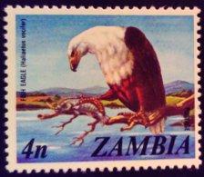Zambie Zambia 1975 Animal Oiseau Bird Aigle Eagle Yvert 136 ** MNH - Zambia (1965-...)