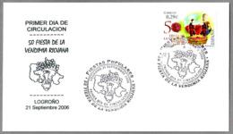 50 FIESTA DE LA VENDIMIA RIOJANA - Grape Harvest In La Rioja. SPD/FDC. Logroño, La Rioja, 2006 - Vinos Y Alcoholes