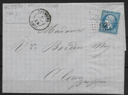 LETTRE NAPOLEON III GC 3970 (45) TONNEINS  POUR OLORON INDICE 3 - 1862 Napoleon III