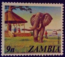 Zambie Zambia 1975 Animal Elephant Yvert 139 ** MNH - Zambia (1965-...)