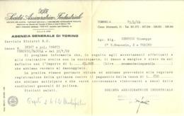 """5907 """" SAI-SOC. ASSICURATRICE INDUSTRIALE-SERVIZIO SINISTRI R.C.-TORINO 15/3/62 """"  ORIGINALE - Italy"""