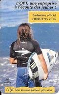 CARTE-PUCE-POLYNESIE-60U-PF48A-GEMB-Fond De Puce Noir-05/96-SURFEUR-UTILISE-TBE-L - Französisch-Polynesien