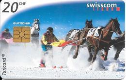 CARTE-PUCE-SUISSE-20CHF-Gem2-Se43-09/98-SKI TRACTE-TBE - Schweiz
