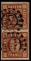 1850, Nr. 4, Paar, Breitrandig! , A2527 - Bavière