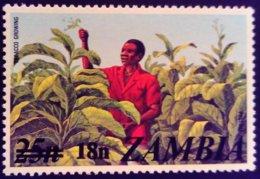 Zambie Zambia 1979 Agriculture Arachide Peanut Surchargé Overprinted Yvert 187 ** MNH - Zambia (1965-...)