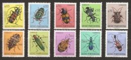 Guinée Portugaise 1953 N° 281 / 90 * Insectes, Coléoptères, Colliuris, Cicindela, Lycus, Cordylomera Acantophorus Anthia - Guinea Portuguesa