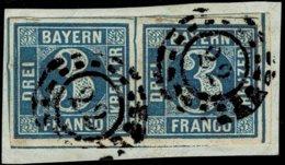 1850, 3 Kr. , Luxus-Paar, Enorm Breitrandig , A2528 - Bavière