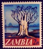 Zambie Zambia 1968 Arbre Tree Baobab Yvert 40 ** MNH - Zambia (1965-...)