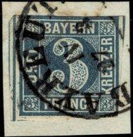 "1849, 3 Kr. Platte 1, Mi. 90.- "" Bayreuth "" Klar , A2529 - Bavière"
