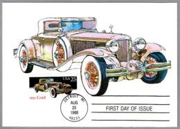 Automovil CORD L-29 De 1931. Detroit MI 1988 - Coches
