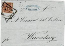 "1859, Bahnpost , Station "" Nürnberg "" , A2530 - Bavière"
