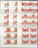 INDIA 2019  Set 8v  HISTORICAL GATES  INDIAN FORTS & MONUMENTS, Architecture, BLOCKS Of 6  With Traffic Lts,  MNH (**) - India
