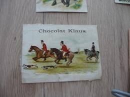 Chromo Ancien Chocolat Klaus Chasse à Cour Mauvais état - Altri