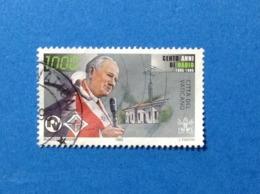 1995 VATICANO FRANCOBOLLO USATO STAMP USED CENTO ANNI DI RADIO 1000 Lire - Vaticano