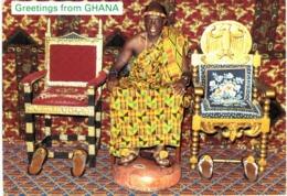 Afrique - Ghana - The Chief And His Stools - Ghana - Gold Coast