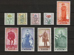 Zegels 814 - 822 ** Postfris - Unused Stamps
