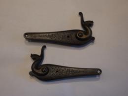 PAIRE PLATINES A CHIENS POUDRE NOIRE - Decorative Weapons
