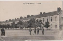 LORIENT (56) - CPA - Caserne, Quartier FREBAULT, Militaires - Lorient