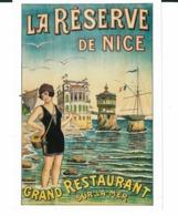 AFFICHE ANCIENNE DE NICE LA RESERVE EN 1900 - Publicité