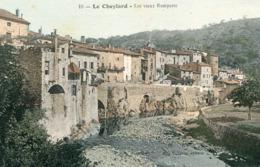 LE CHEYLARD - Les Vieux Remparts Colorisé - Le Cheylard
