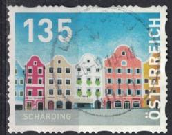 Autriche 2019 Oblitéré Used Les Façades Colorées Des Maisons à Schärding SU - 1945-.... 2de Republiek