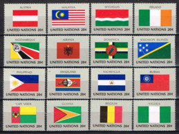 United Nations 1982, Head Quarter New York , Flags Mi. 397 - 412  Postfr. / MNH / Neuf - Zonder Classificatie