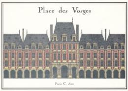 Cp , 75 , PARIS , Place Des Vosges , Bibliothèque Nationale, Paris - Piazze