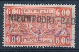 """TR 251 - Griffe """"NIEUWPOORT-BAD"""" - Date Manuscrite/geschreven Datum - (ref. 29.724) - Railway"""