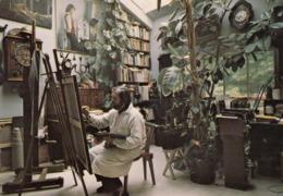 Cp , 75 , PARIS , La Cité Fleurie, Boulevard Arago, Atelier Du Peintre Henri CADIOU - Other
