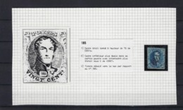 N°7 (plaat II Positie 185) GESTEMPELD MET 4 MARGES P120 Punt Tournai COBA € 10,00 SUPERBE - 1851-1857 Medallions (6/8)