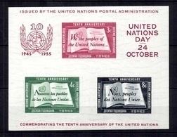 Nations-Unies/ONU New-York Bloc-feuillet YT N° 1 Neuf ** MNH. TB. A Saisir! - New York – UN Headquarters