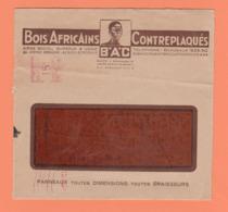 LETTE A EN-TETE BOIS AFRICAINS CONTREPLAQUES B.A.C DE BEGLES BORDEAUX - Sin Clasificación