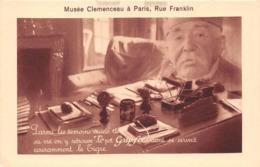 """¤¤   -    PARIS    -  Musée Clémenceau , Rue Franklin - Publicité """" Grip Fix """"  -  Le Tigre   -  ¤¤ - Arrondissement: 16"""