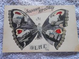 Cpa  Olne Souvenir Affectueux - Olne