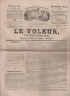LE VOLEUR 15 07 1844 - USA MUSKINGHUM ETAT DE WASHINGTON MARIETTA - Mlle DELAGRANGE - LA HAYE - BALE FETE DU TIR FEDERAL - Kranten