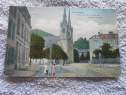 Cpa Diekirch Luxembourg Vue Sur L'eglise Blick Auf Die Pfarkirche 1909 - Diekirch